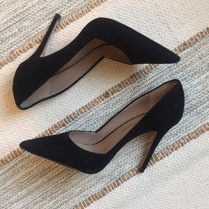 Jean Michel Cazabat Emma Suede Pump Heel Size 9